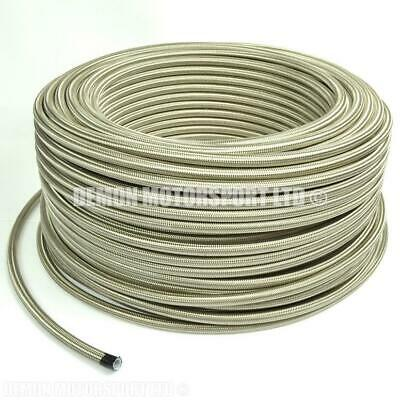 AN6 (-6 6AN) 5/16 PTFE Teflon Lined Stainless Braided Hose - No Fuel Smell