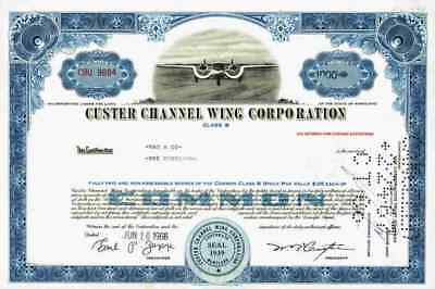 CUSTER Channel Wing Maryland Reading 1966/68 CCW-5 TOP Airplane Historic Shares
