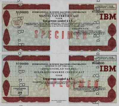 IBM International Business Machines 1973 Amsterdam New York SPECIMEN 5 Dollar