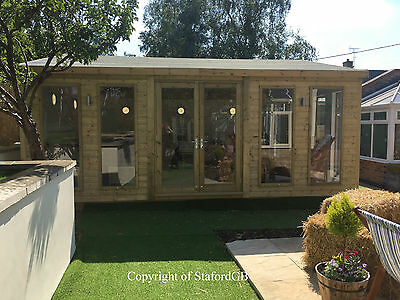 20x20 19mm Tanalised Apex Garden Room/Office/Gym/Hot tub Room