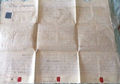 Vellum Indenture Related to People and property in Stevenage, 1811