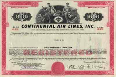 Continental AirLines Denver Stapleton Houston Lufthansa 1000 Dollar 1971 Einzel