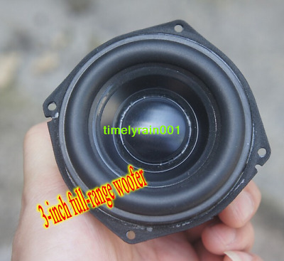 "2pcs 3"" inch full-range bass speaker for peerless Long Stroke Subwoofer Audio"
