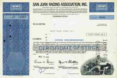 San Juan Racing Association 1976 Puerto Rico New Jersey New York Pferderennbahn
