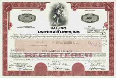 United Airlines UAL 1977/1978 Chicago Illinois Lufthansa Boeing Debenture 500 $