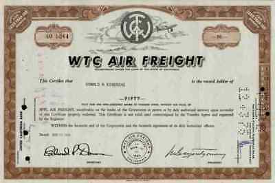 WTC Air Freight 1969 California BAX Global Burlington BAX Global 100 shares