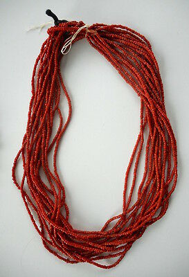 Old 14 Strand African Trade Bead Necklace
