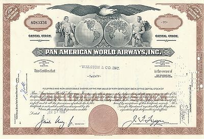 Pan American World Airways Aktie USA Fluglinie Luftfahrt Transport Pan Am 1966