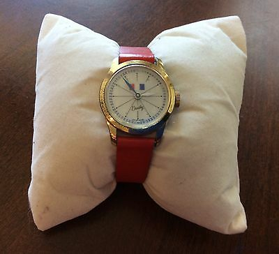 Vintage Bradley  Winding Wrist Watch Swiss Made With Original Red Band