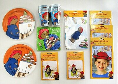 Paddington Bear Party Tableware and decorations - plates cups napkins banner
