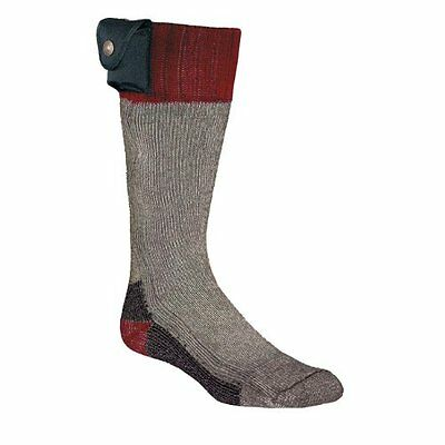 NORDIC GEAR SPORT BATTERY HEATED SOCKS LECTRA SOX NEW Small Maroon gray