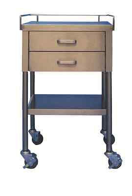 """New MCM-521 Utility Table 16""""W x 20""""L x 34""""H Two Drawer 3-Sided Guardrail"""