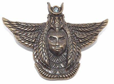 Isis Egyptian Goddess Brass Plated Pewter Rivet Concho