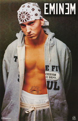 Lot Of 2 Posters : Music: Rap:  Eminem - Gray Hoodie -  Free Ship  #6577  Lc20 Q