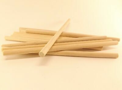 """6"""" Natural Wood Cake Tier Supports Baking Sticks Candy Apples - Bulk 100 Pack"""