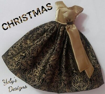 NEW CHRISTMAS Vintage Silkstone Reproduction Barbie Doll Dress Clothes Handmade