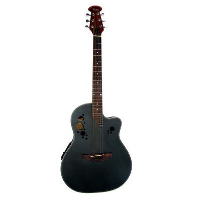 Coban Electro 4EQ Black Gloss Acoustic Round back Guitar With very slight marks*