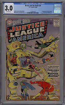 Brave and the Bold # 29 CGC 3.0 GD/VG 2nd Appearance of the Justice League 1960