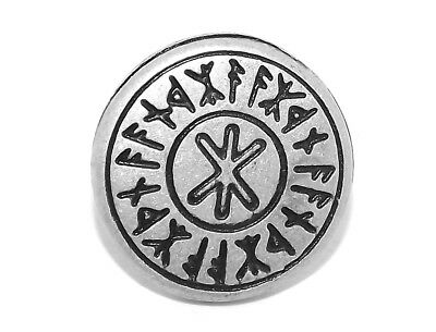 Four Viking Celtic Odin's Protection Rune Pewter Rivet Concho