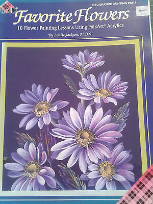 Decorative Painting Book-Includes 10 Flower Painting Lessons-By Louise Jackson