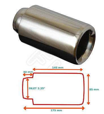 Universal Stainless Steel Exhaust Tailpipe Tips Single Yfx-0232  Frd3