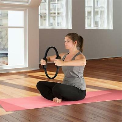 "Wakeman Fitness Pilates Dual-Grip Toning Ring, 15"" BLACK NEW"