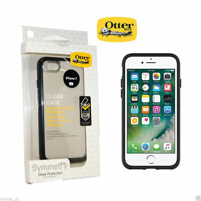 """Genuine Otterbox Clear Black Side Symmetry Case for Apple iPhone 7 8 4.7"""""""