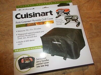 NEW ! Cuisinart CGC-18 Tabletop Grill Tote Cover  FREE Shipping (B6)