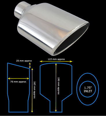 Universal Stainless Steel Exhaust Tailpipe Tip Single Yfx-0286A  Dai