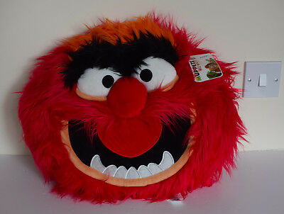"""Disney Store - Muppets Most Wanted - ANIMAL -14"""" Soft Plush 3D Cushion Pillow"""