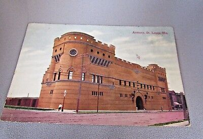 Antique Vintage Armory St. Louis, Mo. Unposted Collectible Historical  Post Card