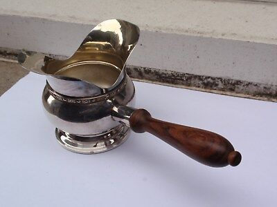 Vintage Silver Plated Made In England Wooden Handle Hot Toddy Ladle