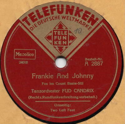 "78er Euro-Jazz Swing Tanzorchester Fud Candrix ""Frankie And Johnny"""