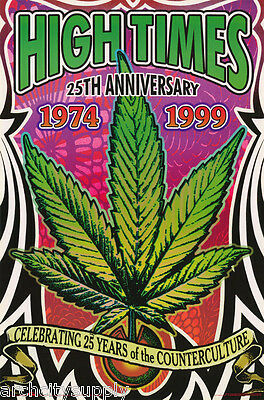 LOT OF 2 POSTERS: 25th ANNIV OF HIGH TIMES MAGAZINE   FREE SHIP   #3582   LC28 B