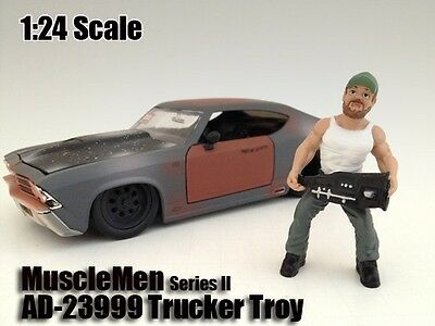 1:24 American Diorama Figure Musclemen Trucker Troy for your shop/garage/diorama