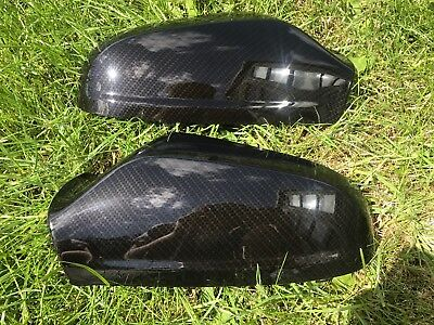 Vauxhall Astra H 04-09 Wing Mirror Covers caps Pair carbon style hydro dipped