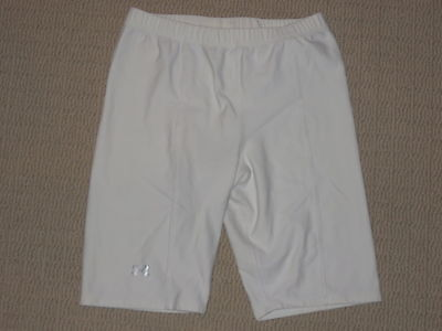 Womens Under Armour Protective Base Layer Compression Shorts MD Medium White