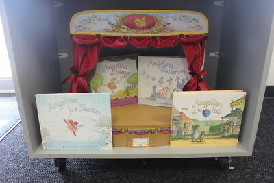 American Girl ANGELINA BALLERINA DOLL Stage Carrying Case & Books