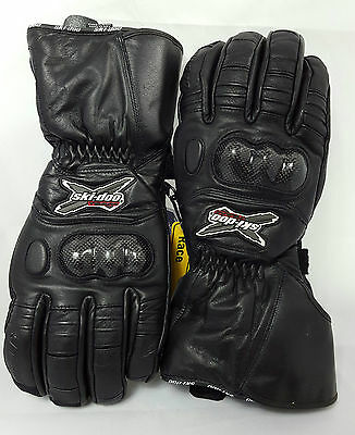 Ski-Doo X-Team Men's Black Leather Snowmobile Gloves Size Small