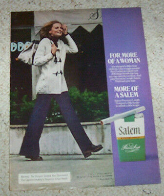 1974 ad page - Salem Cigarettes SEXY GIRL smoking tobacco advertising ADVERT