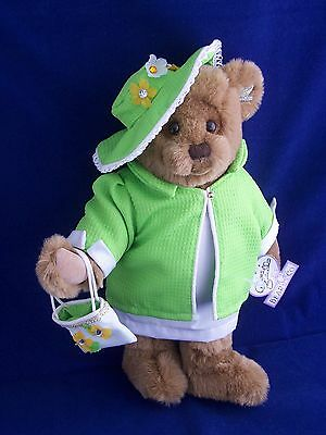 "Kiki Annette Funicello & Genie Buttitta Collectible Lady Bear Jointed 15"" Plush"