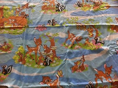 Minnie  Housse De Couette Vintage Disney Bambi Made In France  1.90 M / 1.38 M