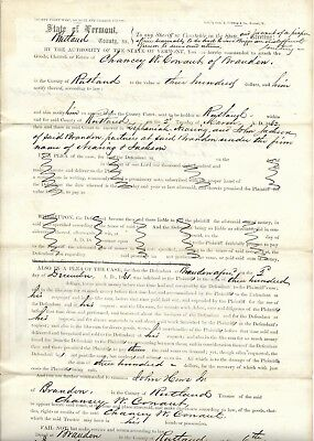 20 Early Documents Related to Rutland County, Vermont. 1850-60s