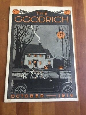 Vintage 1916  B. F. Goodrich Halloween Company Magazine - Awesome Cover !