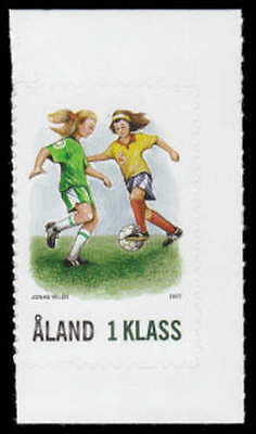 Aland Islands 266 - Soccer Players Self-Adhesive MNH