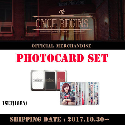Twice Fanmeeting Once Begins Official Goods [Photocard Set 18Ea]  Free Shipping