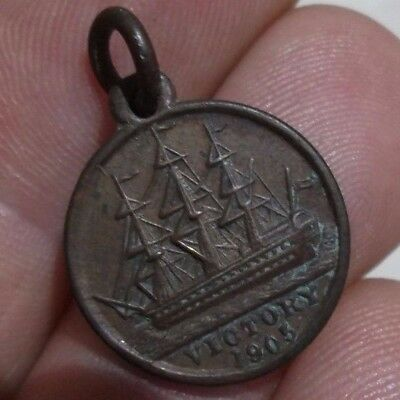 1905 Medal / Medallion Made With Copper From Nelson's Ships. Victory Centenary