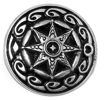 North Star Silver Pewter Rivet Concho