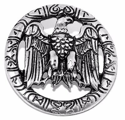 Germanic German Odin Eagle Silver Pewter Rivet Concho