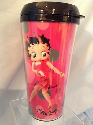 "Betty Boop Travel Mug   Shopping Therapy  6.75"" Vandor 10551 Plastic 2010 $10.99"